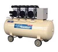 TRADEair MCFRC248-200L3.3kW Silent & Oil Free Compressor (9916)