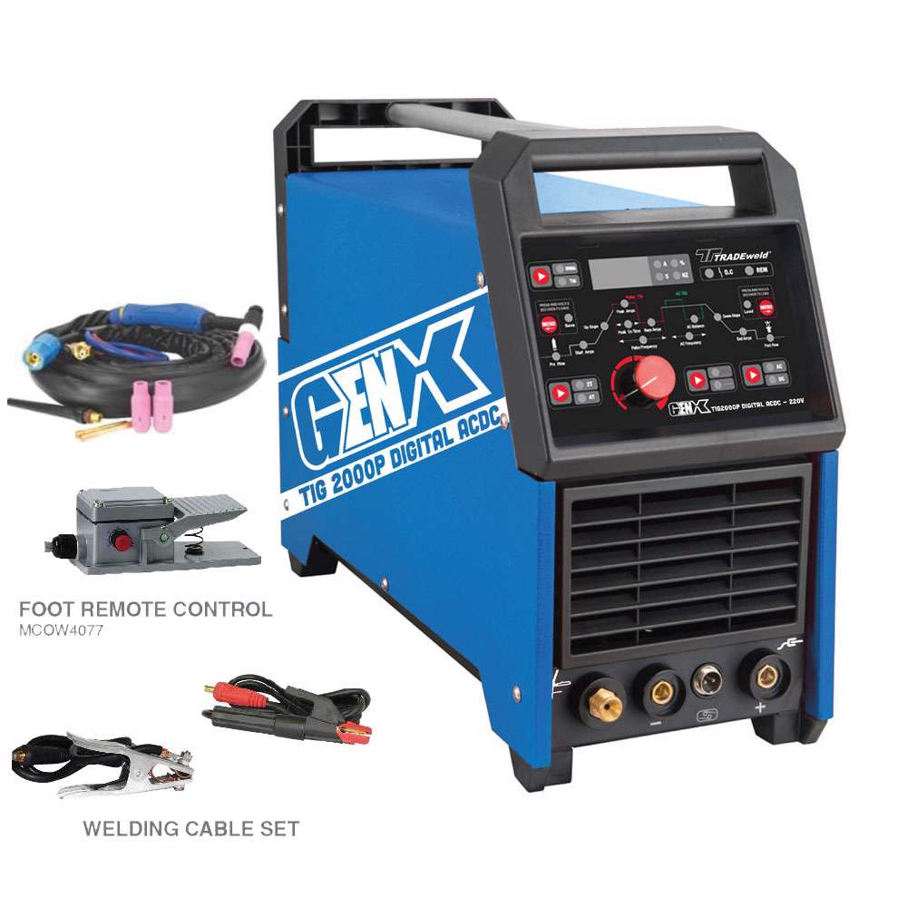 Tradeweld EWM0130-I GENX TIG2000P Digital ACDC Inverter Tig Welding Machine (9912)